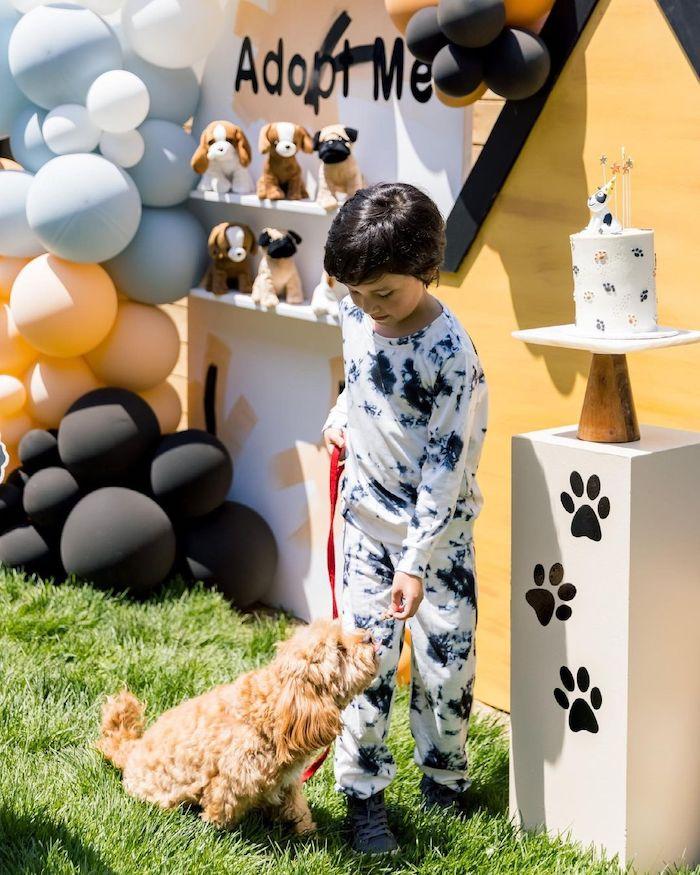 Abstract Puppy Pawty on Kara's Party Ideas | KarasPartyIdeas.com
