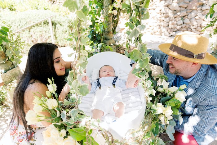 Baby Backyard Garden Sip and See on Kara's Party Ideas | KarasPartyIdeas.com