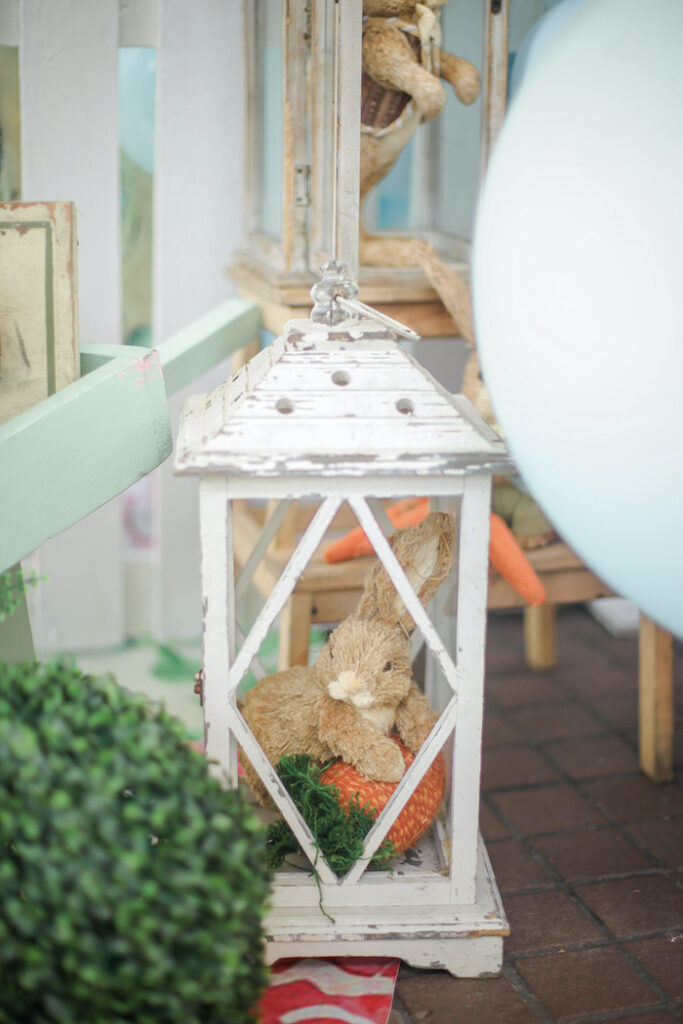 Bunny Rabbit Decor from a Beatrix Potter Farmers' Market Drive-by Party on Kara's Party Ideas | KarasPartyIdeas.com