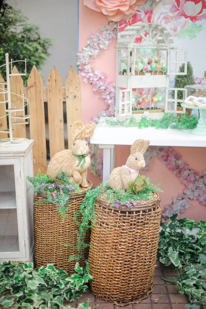 Baskets and Bunnies from a Beatrix Potter Farmers' Market Drive-by Party on Kara's Party Ideas | KarasPartyIdeas.com