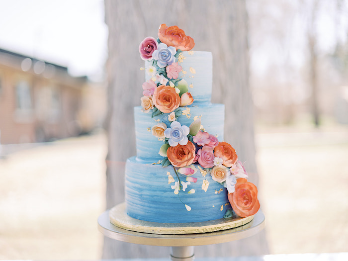 Bridgerton Inspired Cake from a Bridgerton Inspired Baby Shower on Kara's Party Ideas | KarasPartyIdeas.com