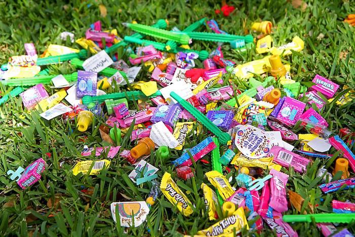 "Pinata Candy from a Cinco ""en"" Mayo 5th Birthday Fiesta on Kara's Party Ideas   KarasPartyIdeas.com"