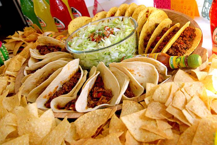 "Tacos from a Cinco ""en"" Mayo 5th Birthday Fiesta on Kara's Party Ideas   KarasPartyIdeas.com"