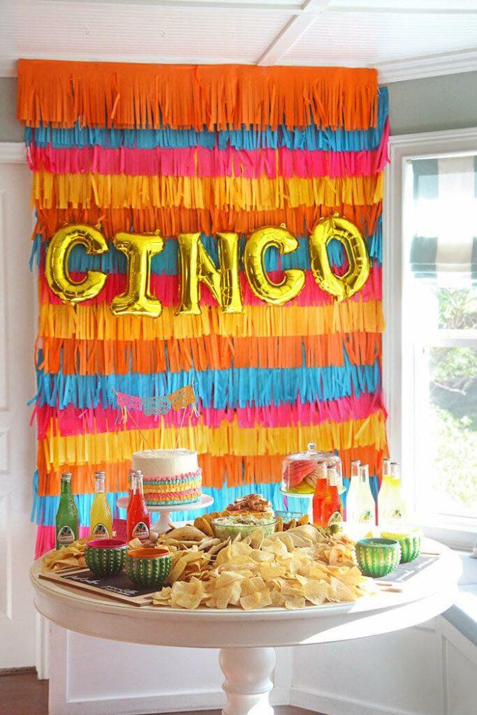 "Fiesta Party Table from a Cinco ""en"" Mayo 5th Birthday Fiesta on Kara's Party Ideas   KarasPartyIdeas.com"