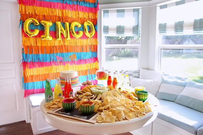 "Fiesta Table from a Cinco ""en"" Mayo 5th Birthday Fiesta on Kara's Party Ideas   KarasPartyIdeas.com"