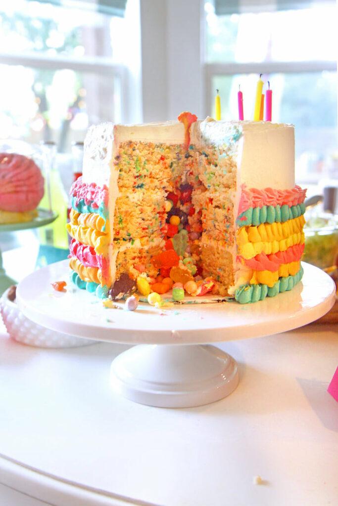 "Surprise Cake from a Cinco ""en"" Mayo 5th Birthday Fiesta on Kara's Party Ideas   KarasPartyIdeas.com"