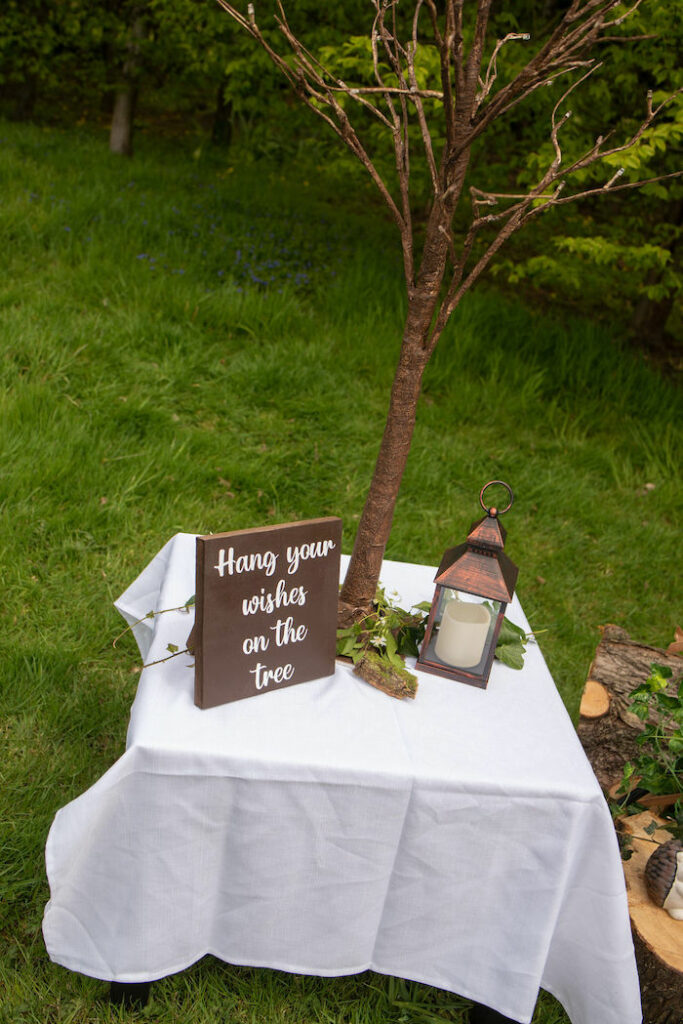 Wishing Tree Table from an Eco-friendly Enchanted Woodland Party on Kara's Party Ideas | KarasPartyIdeas.com