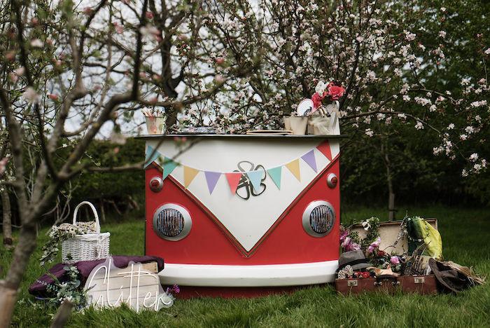 VW Glitter Bar from an Eco-friendly Enchanted Woodland Party on Kara's Party Ideas | KarasPartyIdeas.com