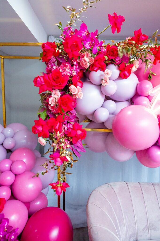 Florals from a Fifty & Fabulous Birthday Party on Kara's Party Ideas | KarasPartyIdeas.com