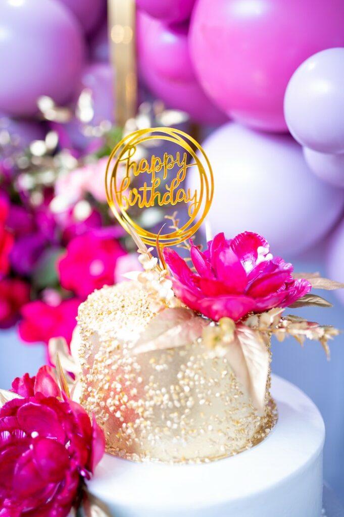 Glam Cake from a Fifty & Fabulous Birthday Party on Kara's Party Ideas | KarasPartyIdeas.com