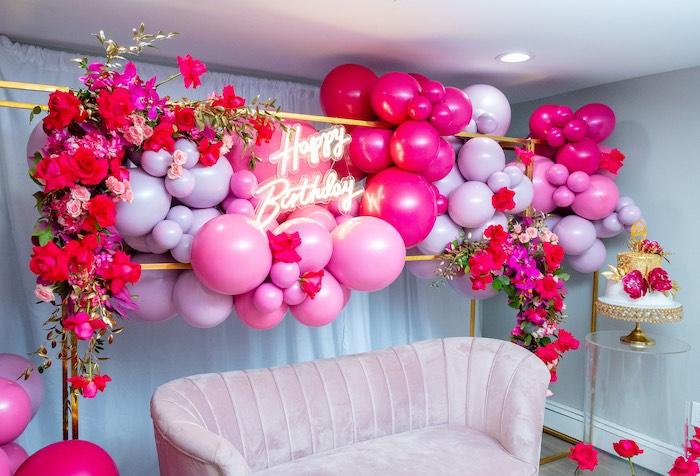 Fifty & Fabulous Birthday Party on Kara's Party Ideas | KarasPartyIdeas.com