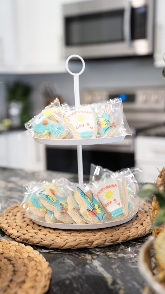 Cookie Platter from a Glam Tropical Backyard Pool Party on Kara's Party Ideas | KarasPartyIdeas.com