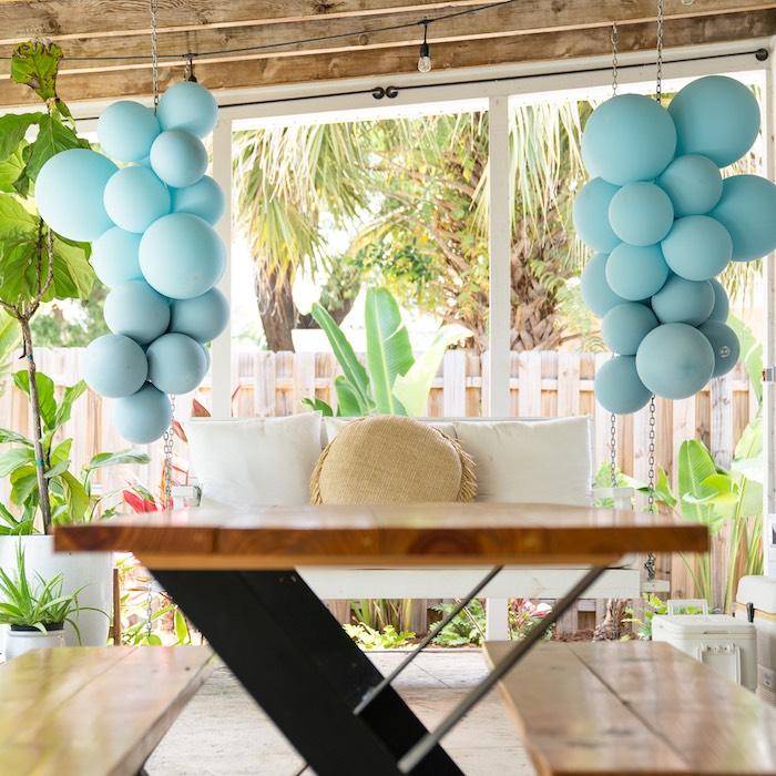 Glam Tropical Backyard Pool Party on Kara's Party Ideas | KarasPartyIdeas.com