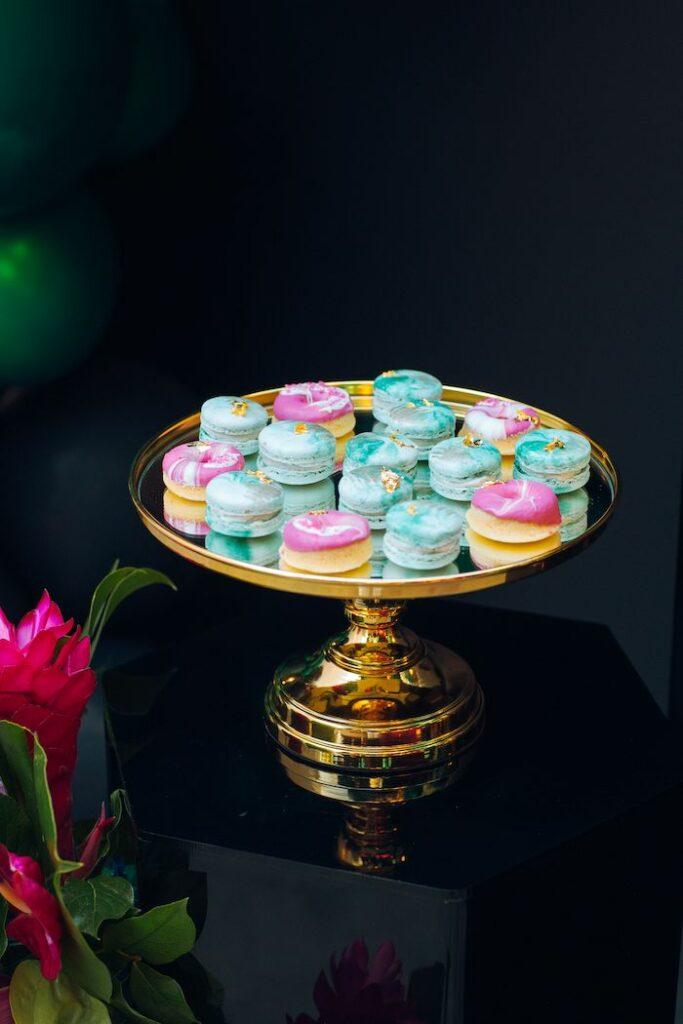 Macarons from a Glam Tropical Birthday Party on Kara's Party Ideas | KarasPartyIdeas.com