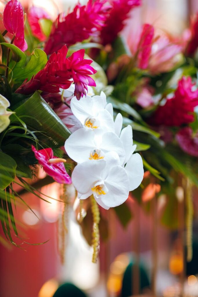 Tropical Blooms from a Glam Tropical Birthday Party on Kara's Party Ideas | KarasPartyIdeas.com