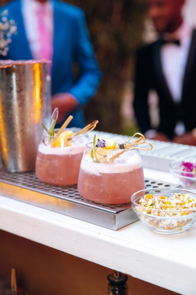 Beverages from a Glam Tropical Birthday Party on Kara's Party Ideas | KarasPartyIdeas.com