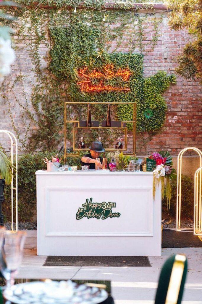 Tropical Bar from a Glam Tropical Birthday Party on Kara's Party Ideas | KarasPartyIdeas.com