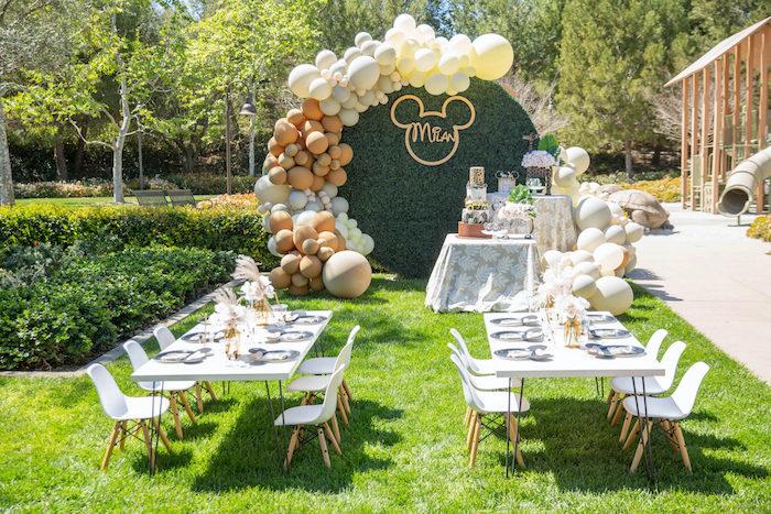 Mickey Mouse Safari Party on Kara's Party Ideas | KarasPartyIdeas.com