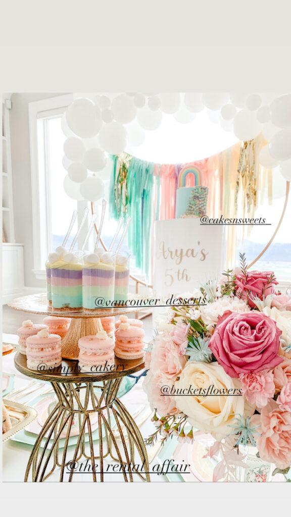 Pastel Rainbow Desserts from a Pastel Rainbow Tea Party on Kara's Party Ideas   KarasPartyIdeas.com