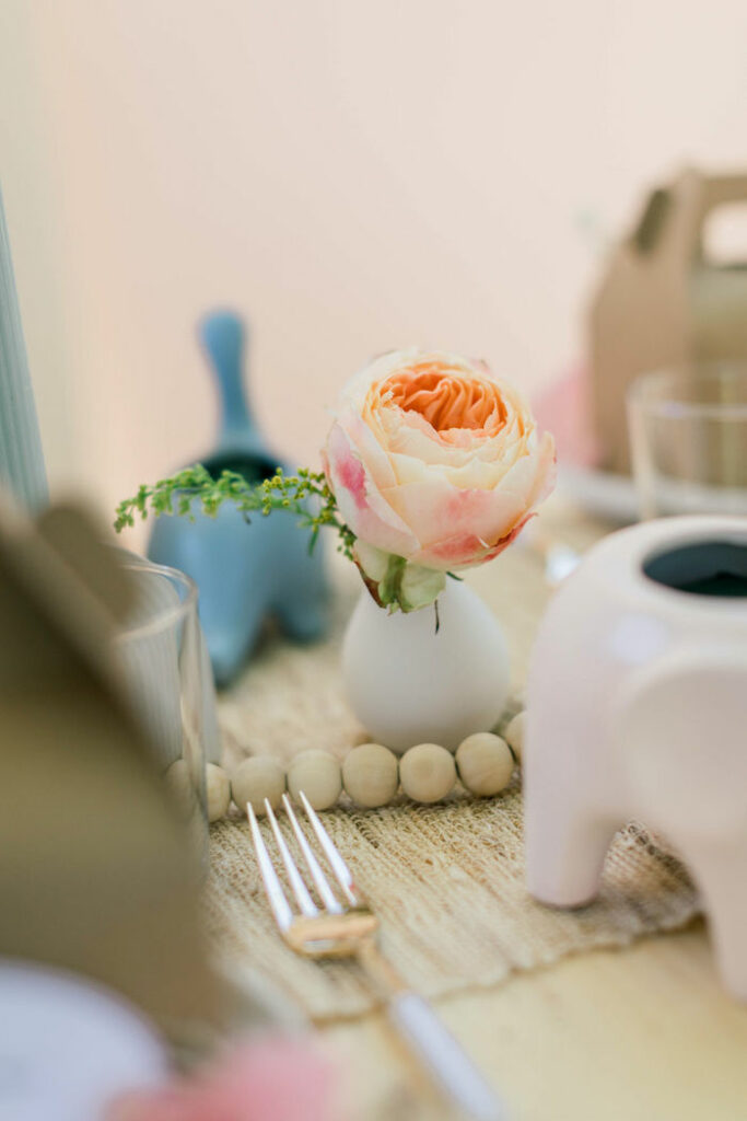 "Table Bloom from a ""Let Your Dreams Bloom"" Boho Garden Picnic on Kara's Party Ideas | KarasPartyIdeas.com"