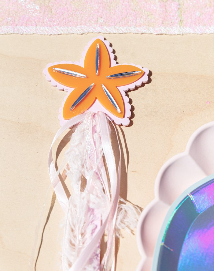 "Star Fish Tassel Wand from a ""Sea the Magic"" Enchanted Ocean Party on Kara's Party Ideas | KarasPartyIdeas.com"