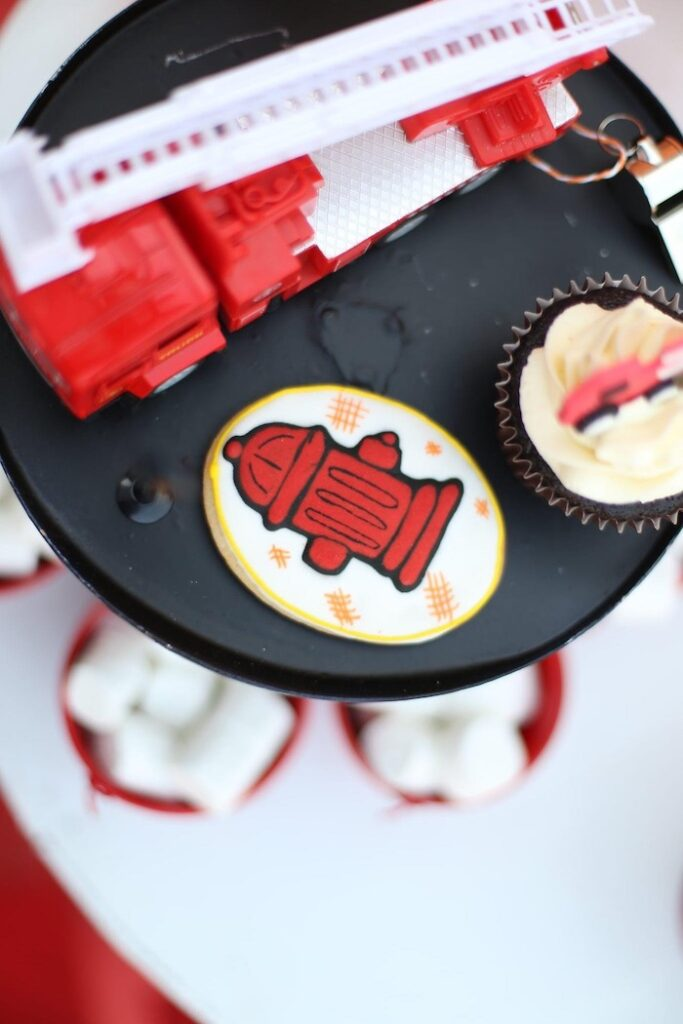 """Fire Hydrant Cookie from a """"Stop, Drop and Roll"""" Fireman Party on Kara's Party Ide"""