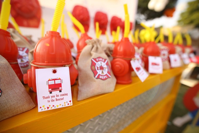"""Firemen Party Favors from a """"Stop, Drop and Roll"""" Fireman Party on Kara's Party Ide"""