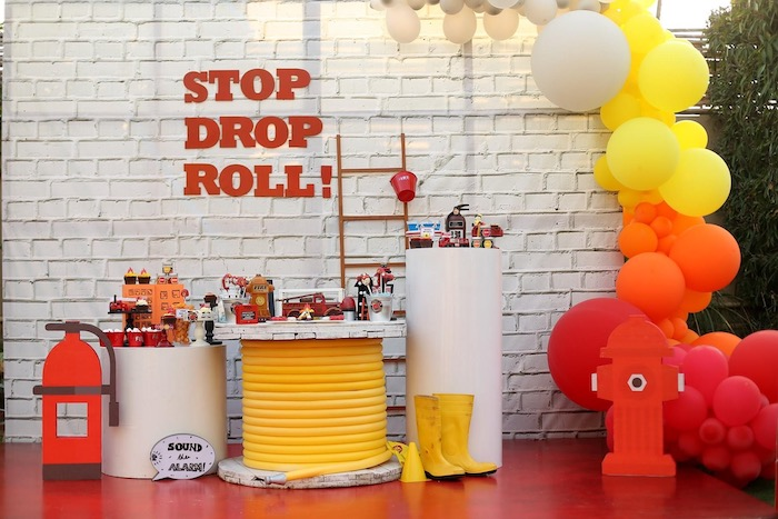 """""""Stop, Drop and Roll"""" Fireman Party on Kara's Party Ide"""