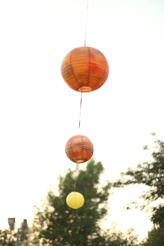 """Paper Lantern Banner from a """"Stop, Drop and Roll"""" Fireman Party on Kara's Party Ide"""