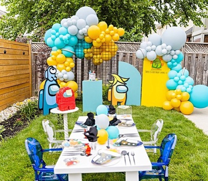 Among Us Birthday Party on Kara's Party Ideas | KarasPartyIdeas.com