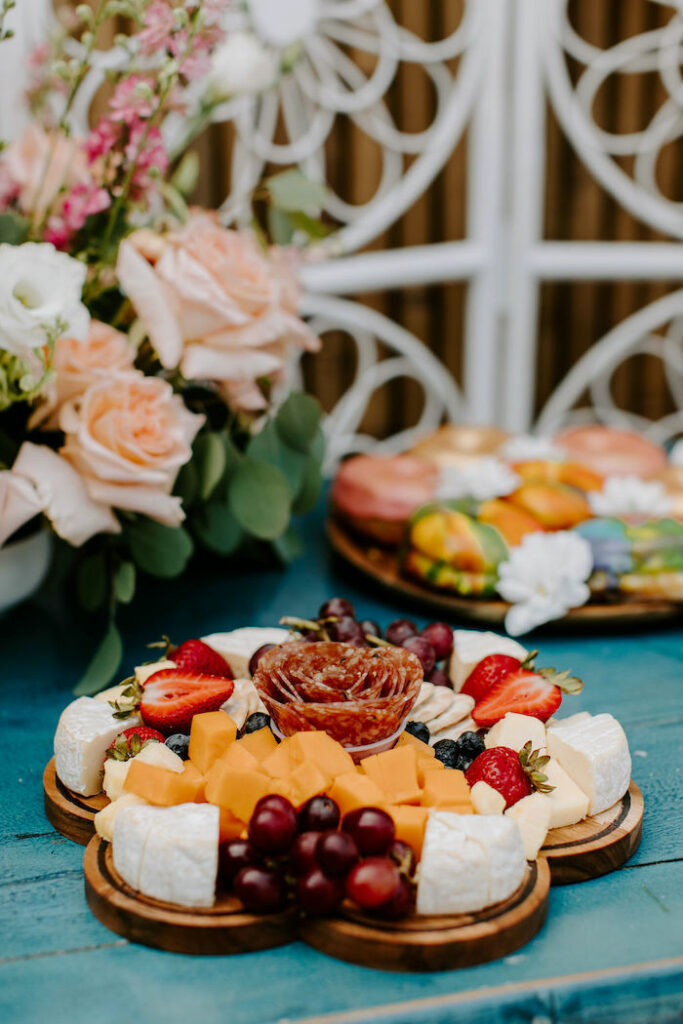 Charcuterie Board from a Boho Floral Woodstock Inspired Birthday Party on Kara's Party Ideas   KarasPartyIdeas.com