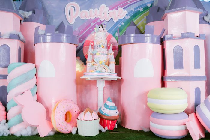Candy Land Castle Cake from a Candy Land Castle Birthday Party on Kara's Party Ideas   KarasPartyIdeas.com