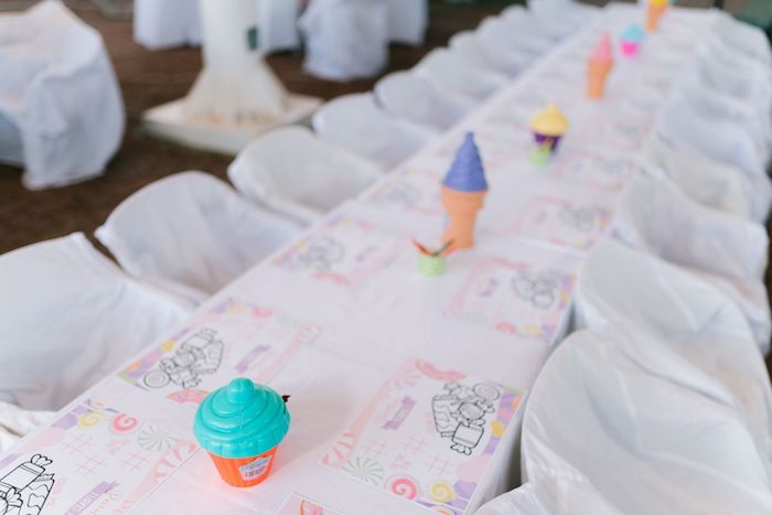 Candy Land Kid Table from a Candy Land Castle Birthday Party on Kara's Party Ideas   KarasPartyIdeas.com