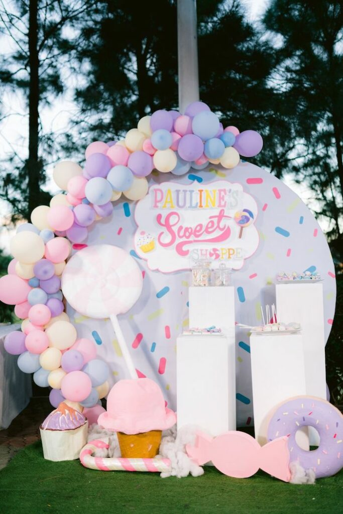 Candy Land Dessert Spread from a Candy Land Castle Birthday Party on Kara's Party Ideas   KarasPartyIdeas.com