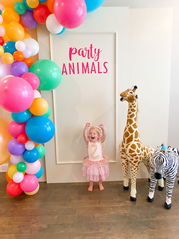 Colorful Party Animals Birthday Party on Kara's Party Ideas | KarasPartyIdeas.com