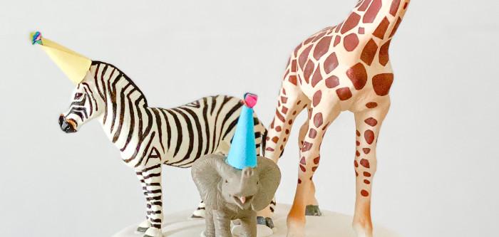 Colorful Party Animals Birthday Party on Kara's Party Ideas   KarasPartyIdeas.com