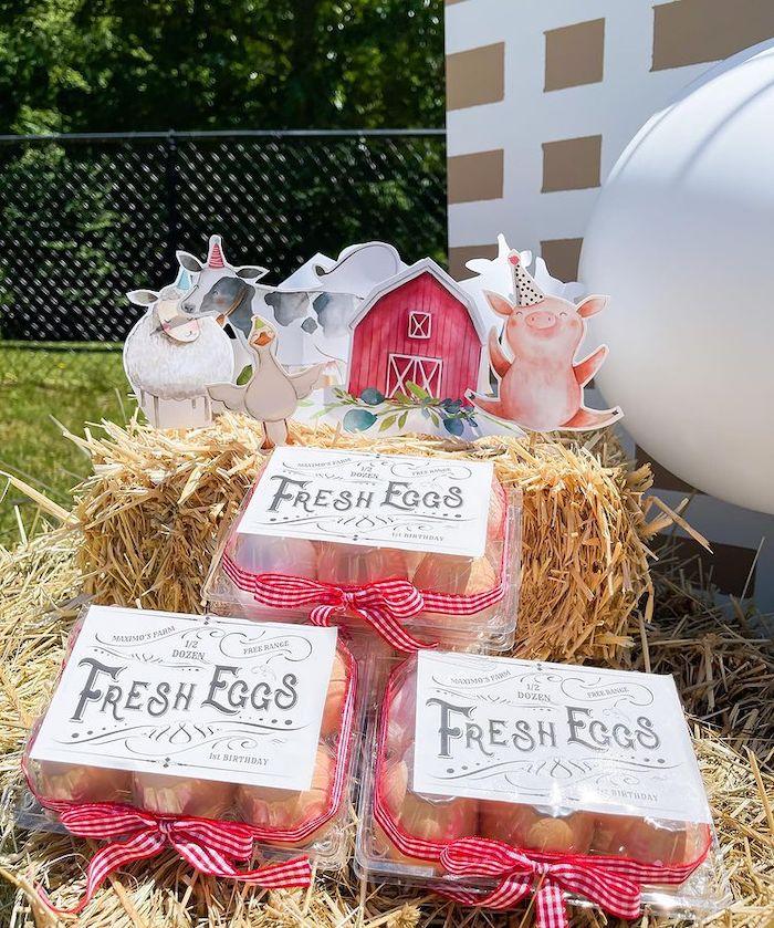 Fresh Eggs from a Farm 1st Birthday Party on Kara's Party Ideas | KarasPartyIdeas.com