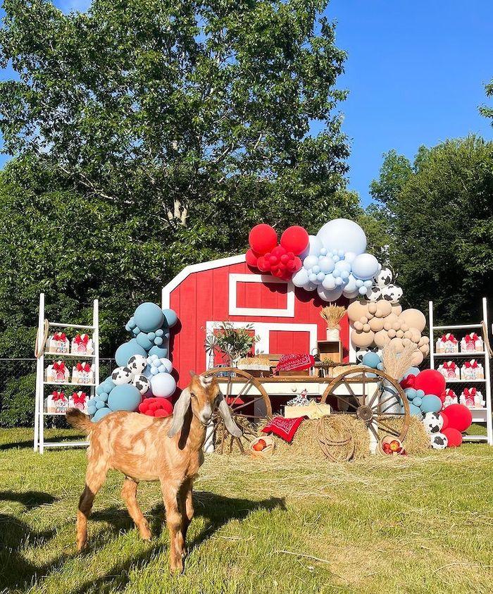Fiesta de cumpleaños de la granja 1 en las ideas de la fiesta de Kara    KarasPartyIdeas.com