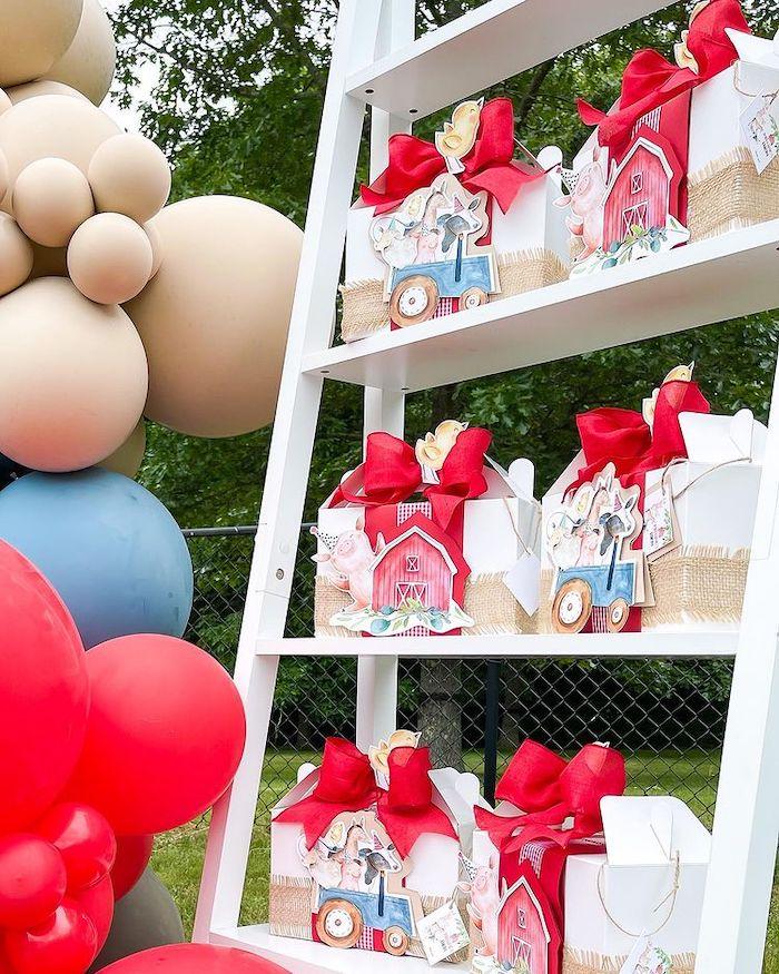 Farm Party Favors from a Farm 1st Birthday Party on Kara's Party Ideas | KarasPartyIdeas.com