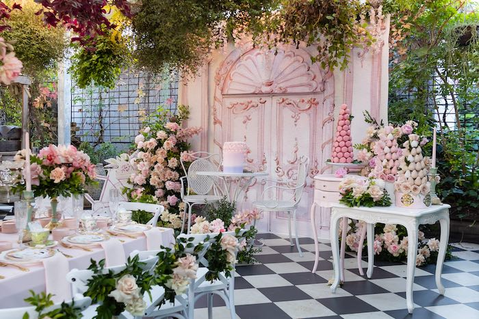 Garden High Tea Birthday Party on Kara's Party Ideas | KarasPartyIdeas.com