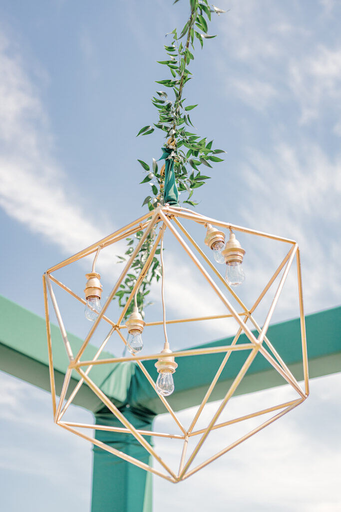 Modern Wire Lantern from a Modern Chic Gender Reveal Party on Kara's Party Ideas | KarasPartyIdeas.com