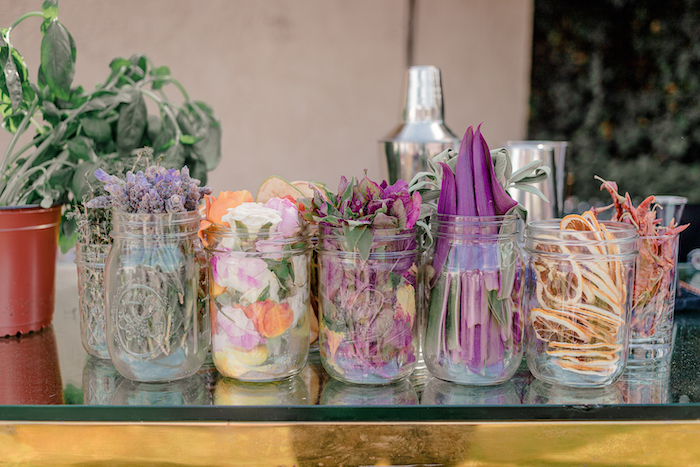 Drink Garnishes from a Modern Chic Gender Reveal Party on Kara's Party Ideas | KarasPartyIdeas.com