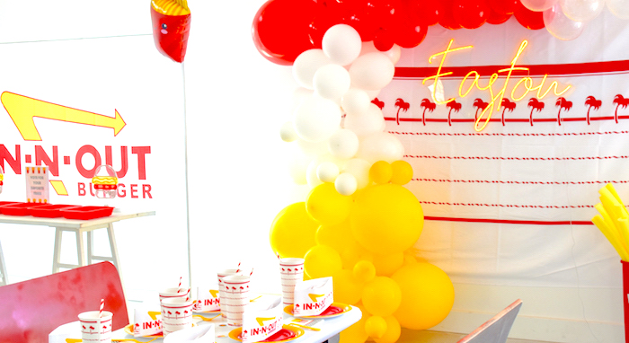 in n out fries for the guys french fry birthday party boy by Kara's Party Ideas