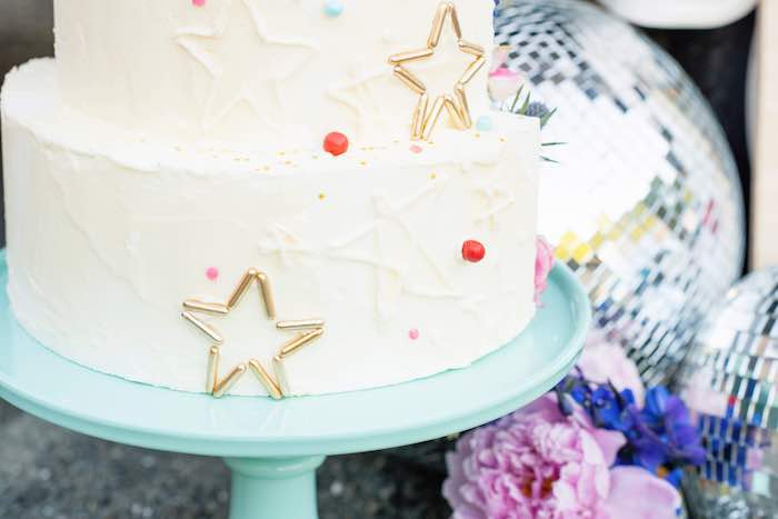 Star Spangled 4th of July Cake from a Modern Americana 4th of July Party on Kara's Party Ideas | KarasPartyIdeas.com