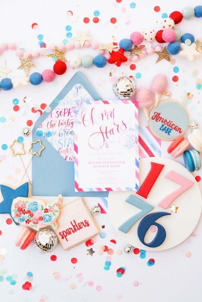 4th of July Party Signage from a Modern Americana 4th of July Party on Kara's Party Ideas | KarasPartyIdeas.com