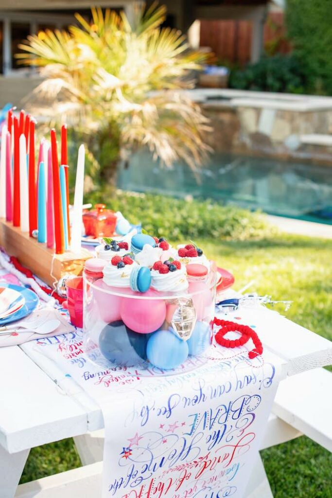 4th of July-inspired Dessert Platter from a Modern Americana 4th of July Party on Kara's Party Ideas | KarasPartyIdeas.com