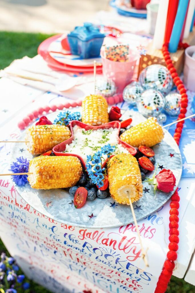 Corn on the Cob from a Modern Americana 4th of July Party on Kara's Party Ideas | KarasPartyIdeas.com