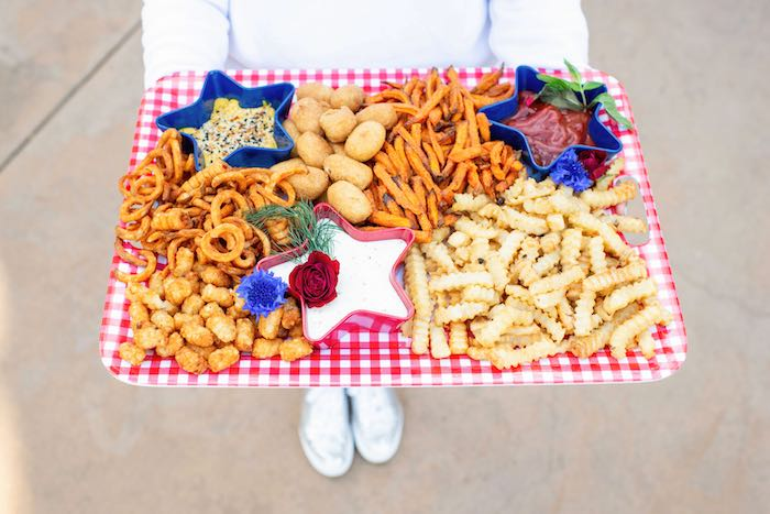4th of July Grazing Board from a Modern Americana 4th of July Party on Kara's Party Ideas | KarasPartyIdeas.com