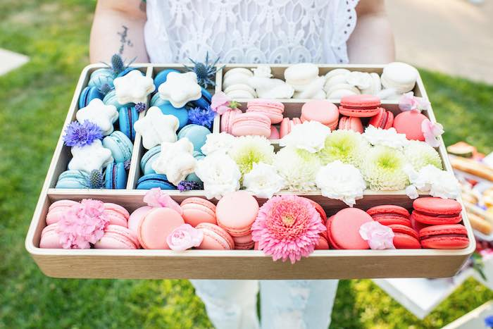 Star Spangled Banner Macarons from a Modern Americana 4th of July Party on Kara's Party Ideas | KarasPartyIdeas.com