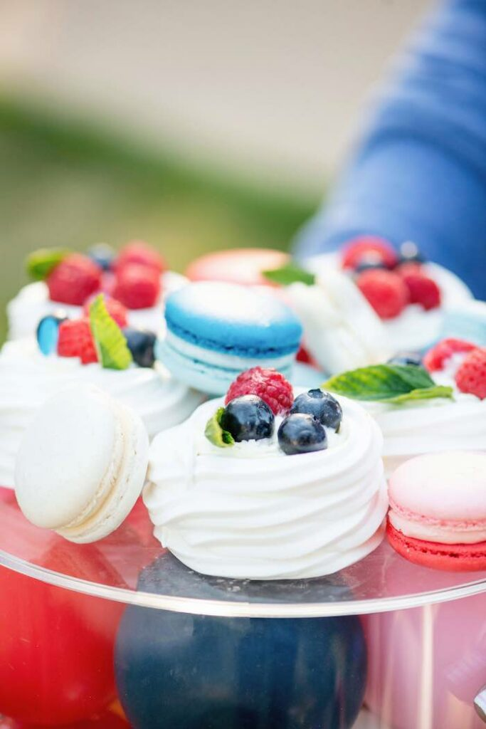 4th of July Meringues + Macarons from a Modern Americana 4th of July Party on Kara's Party Ideas | KarasPartyIdeas.com
